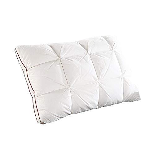 SUIWO Kopfkissen Kissen Bett-Kissen Home Textile Gänsedaunen Federkissen Kern Exquisite Falte Entwurf Kissen Auflage-waschbare, 48x74cm (Color : White)