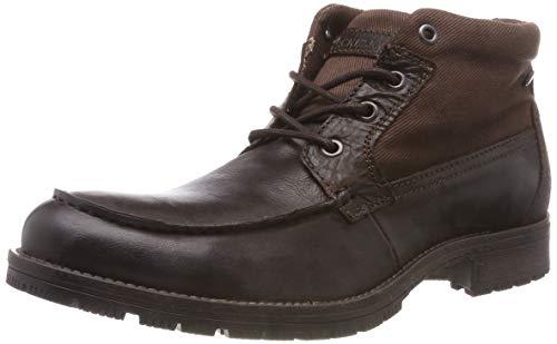 JACK & JONES Herren JFWFOREST MID Brown Stone Combat Boots, Braun, 43 EU