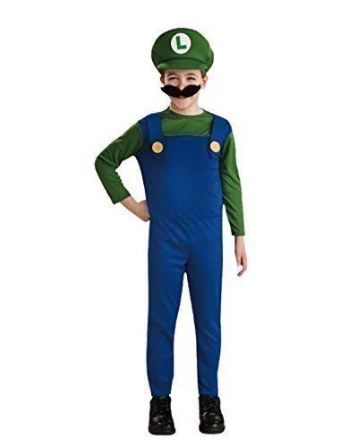 Mario Bros Luigi or Mario Costume. Ages 6-8