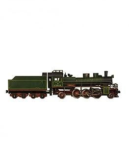 Keranova keranova3081: 87Escala 27,5x 3,5x 6,5cm Clever Papel colección de ferrocarril Locomotora de Vapor 3D Puzzle
