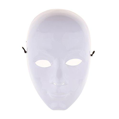 Sharplace 2 Stü DIY Unlackiert Maske Weiß Blank Gesichtsmaske Maskerade Kostüm Maske Set (Weiße Gesichtsmaske Kostüm)