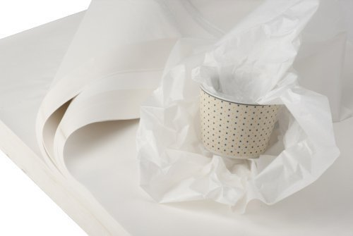 BB-Verpackungen weiße Juwelierseide, 2 kg, 50 x 75 cm, Farbe: weiß, holzfrei (ca. 180 Bögen) Packseide Seidenpapier Geschirrpapier thumbnail