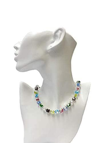 Venetiaurum - Collana per Donna con Perle in Vetro di Murano e Argento 925 - Gioiello Made in Italy Certificato