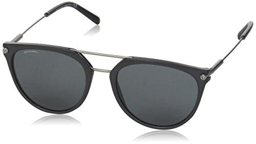 Bulgari Herren 0Bv7029 531387 55 Sonnenbrille, Schwarz (Black/Grey)