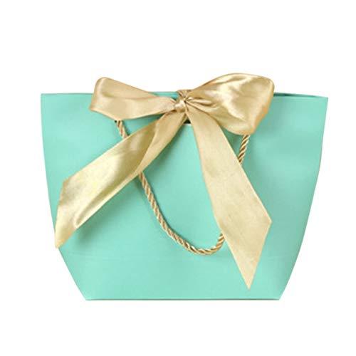 SMHILY 5 Stücke Favor Bow Ribbon Geschenk Tasche Recyclebar DIY Papiertüten Für Kleidung Hochzeit Geburtstag Party Mit Griffen Feier Decor