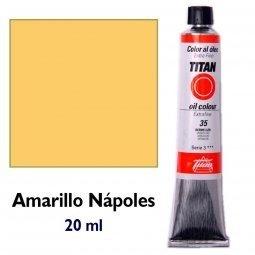 ÓLEO AMARILLO NÁPOLES TITAN Extrafino 6 - 20ml. Nº 8