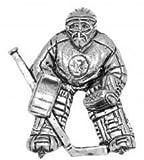 Zinn-Abzeichen des Minder Sport Eishockey