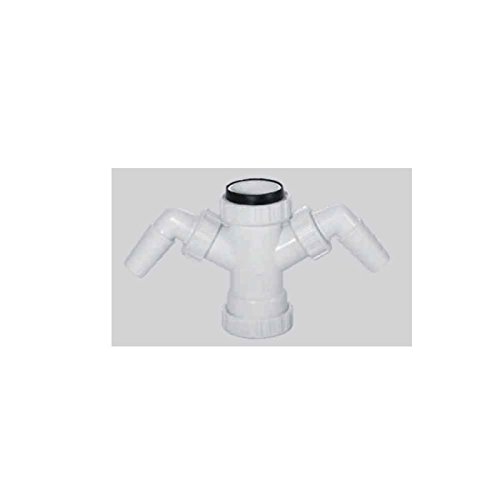 Racor con Tuerca Loca, Adaptable a Tubos Lisos Medida:1'½ = Ø40mm, Plastico Blanco