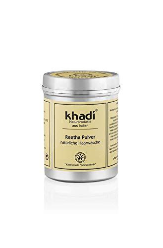 khadi Reetha Pulver 150g I Ayurvedisches Haar-Waschmittel I Bio Haar-Pflege aus Indien I sanfte Reinigung vor dem Haare färben I Naturkosmetik ohne künstliche Zusätze -