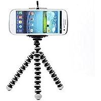 Hilai Soporte de trípode para iPhone, teléfono Móvil, Cámara con Clip Universal y Mando a Distancia, Color Negro y Blanco