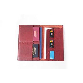 Echtleder Travelorganizer Leder Reiseetui Passhülle dunkelbraun handmade Reisepass Reiseorganizer Reisedokumententasche Pass Etui Passport Hülle Reisebrieftasche
