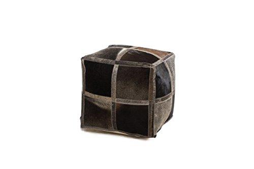 Hocker Sitz-Würfel Patschwork Design Lavish Pouf 410 Bean Bag Muster Leder Beige/Sitzsack günstig...