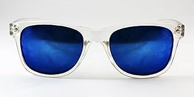 Twice -TW004 Gafas de sol montura transparente con lente espejo