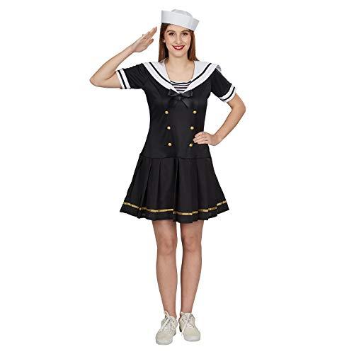 Andrea-Moden Sailor Girl Damen Kostüm Kleid Matrosin schwarz weiß - 40/42