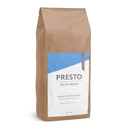 Presto Kaffee ganze Bohnen - Kaffeebohnen - entkoffeinierter Kaffee (1KG Kaffeebohnen)
