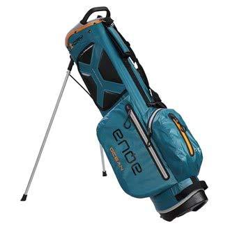 BIG MAX AQUA OCEAN Golf Standbag - Ultraleicht 100{fc0aa9aba34c38c1d816fde355591922e12923d3ff165878c35de1ec44caa601} Wasserdicht (Petrol/Black/Orange)