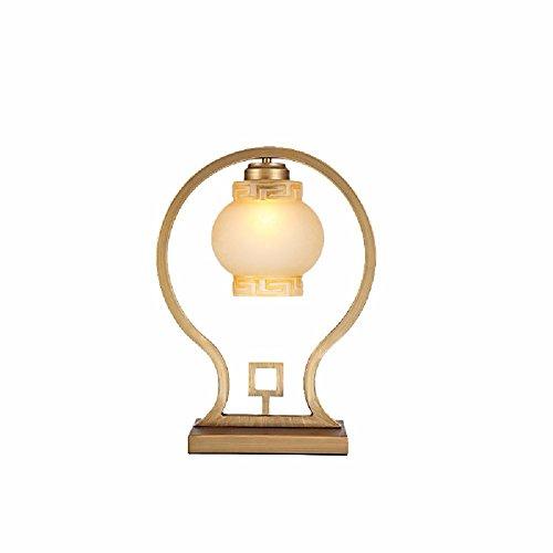 Preisvergleich Produktbild ZPSPZ Schreibtisch Lampe Chinesische Wohnzimmer,  Schlafzimmer,  Schmiedeeiserne Glas Lampe,  31 * 41Cm
