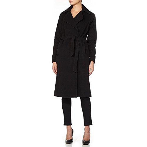 De La Creme - Frauen `s Winter Wolle Kaschmir Wrap Mantel, schwarz, Größe 46 -