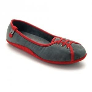 SCHOLL HAKARI 36 Chaussons SCHOLL - Gris/Rouge - Taille 36