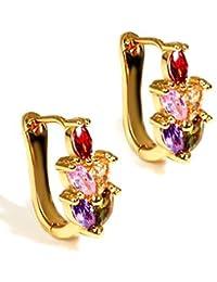 Valentine Gifts : YouBella Jewellery Valentine Collection AAA Swiss Zircon Fancy Party Wear Earrings For Girls...