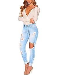 Hosen Frauen Kleidung & Zubehör Sexy Frauen Zerstört Zerrissene Distressed Dünne Jeanshosen Boyfriend-jeans Hosen Plus Größe Hohe Taille Jeans Frau Bleistift Hosen