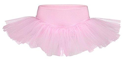 tanzmuster Kinder Tutu Ballettrock Pia aus weicher Baumwolle und Tüll zum Reinschlüpfen - Tuturock in rosa, Größe:164/170 (Sally Kind Kostüm)