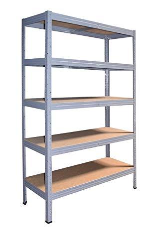 Shelf Creations Industrie Steckregal grau 200x75x30 cm mit 5 Böden Schwerlastregal aus Metall verzinkt: Lagerregal geeignet als Kellerregal, Haushaltsregal, Archivregal, Ordnerregal, Werkstattregal