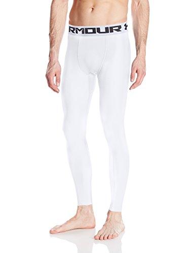 Under Armour HeatGear 2.0 Leggings, Men's, White, Large