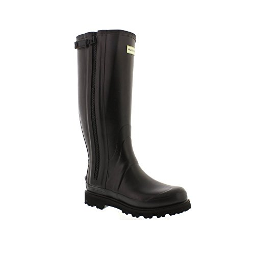 Hunter Mens Commando Full Zip Boot - Black (Rubber) Mens Wellies 9...