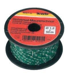 KWB Maurerschnur 50 m, 1,2 mm, grün, 9251-05
