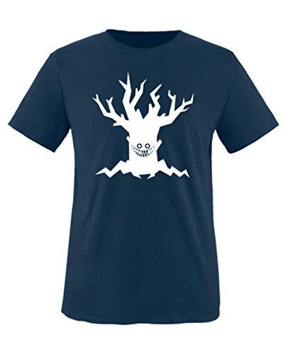 Comedy Shirts - Boeser Baum - Halloween - Mädchen T-Shirt - Navy/Weiss Gr. 152-164