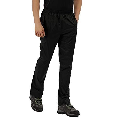 Regatta Herren Pack-It Regenhose für Herren, Schwarz, 62-64 EU (Herstellergröße: XXXL )
