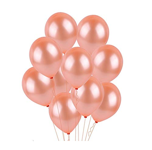 HorBous Rosegold Luftballons Dekoration für Geburtstag Feiern Partys Ballon 18, Happy Birthday Ballonbuchstaben, 100 Stück Luftballons, Ballonpumpe Luftballons zur Dekoration (B)