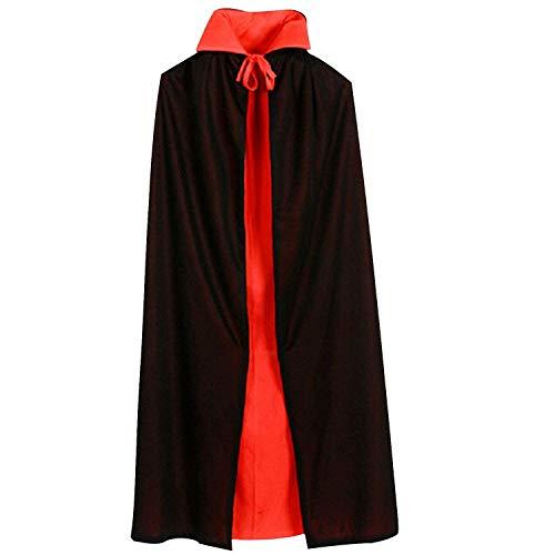 Leisial™ Halloween Costume Capa Fiesta Ropa de Cosplay Disfraces de Halloween Doble Cara para Mujeres Hombrers 140cm