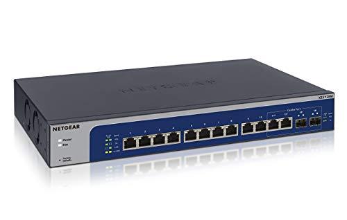 Netgear XS512EM-100EUS 12-Port 10-Gigabit/Multi-Gigabit Ethernet Smart Managed Plus Switches (mit 2 x SFP+) grau