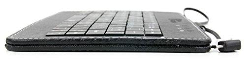 QWERTZ-Tastatur und Kunstledertasche mit Stand für Medion AKOYA P2211T Windows-Tablet (MD 98874), LIFETAB S10333, LifeTab E10312 MD98486, E10320 und E10317 Tablets - 6