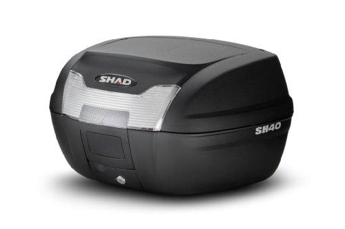 Shad D0B4099 Top-Case mit Universal Halter und Rückstrahler, mit Aufsatz auf Deckel, 40 Liter
