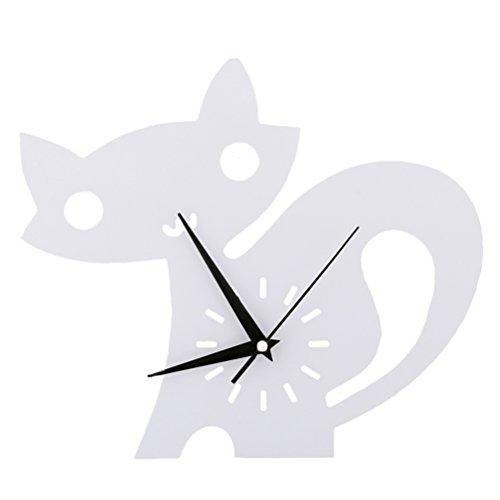 Chats Horloge murale Chambre d'enfant Chambre Horloge silencieuse Belle famille Décoration Boutique