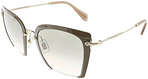 Miu Miu Damen Sonnenbrille 0MU52RS UR23H2, Beige (Beige/Light Brown), 52 (Miu Sonnenbrille Beige Miu)