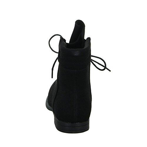 SDS 650-PA Damen Schnürstiefelette Kaltfutter sportlicher Boden Schwarz (Schwarz)