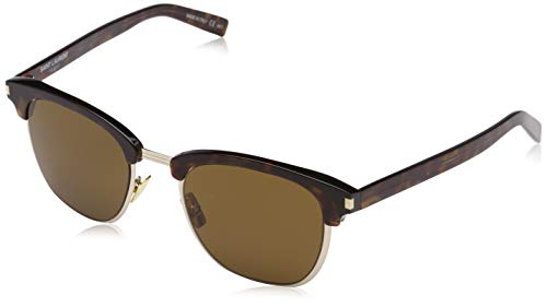 Saint Laurent Herren SL 108 SLIM 004 51 Sonnenbrille, Avelana/Brown