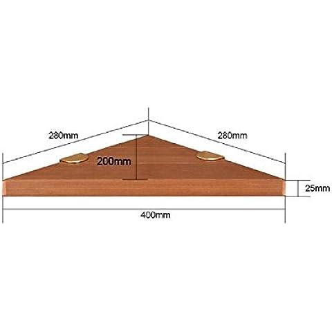 Modylee Le nuove mensole angolari accessori da bagno in legno ruggine treppiede mensola del bagno (Centro Telaio Di Montaggio)