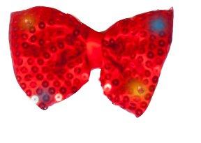 Dress Up America Pajarita de Lentejuelas de Moda con Luces LED Intermitentes Rojas