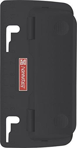 Brunnen 102065090 Taschenlocher Colour Code (zum Abheften, mit Linealprägung und Niederhalterfunktion) schwarz / onyx