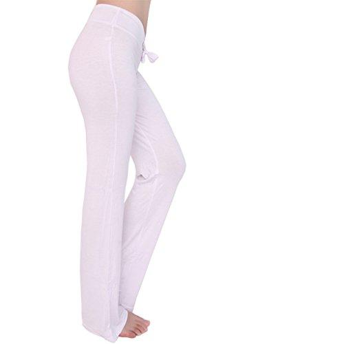 Super moderne pour femme Athletic Pantalon de yoga Longueur complète Dance Fitness Sports entraînement Pantalon Course Yoga Pants Yoga Legging blanc
