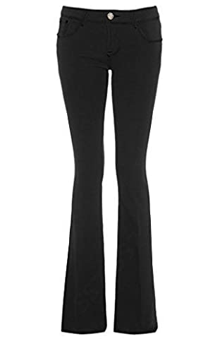 SS7 New Women's Flared Jeans, Dark Indigo, Black, Sizes 6