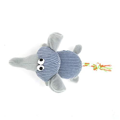 LOSVIP Haustier Hund Quietschendes Spielzeug,Mit Hund Interaktives Tierspielzeug(Grau,Freie Größe)