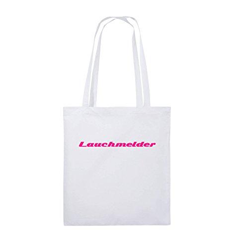 Comedy Bags - Lauchmelder - Jutebeutel - lange Henkel - 38x42cm - Farbe: Schwarz / Pink Weiss / Pink