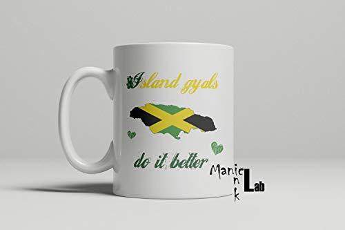Alicert5II Insel Gyals verbessert es Jamaika-Becher Jamaika-jamaikanische Becher-Nationalit?tsbecher Geschenk f¨¹r ihre Insel Gyals-Kaffeetasse - Jamaika-geschenk-set
