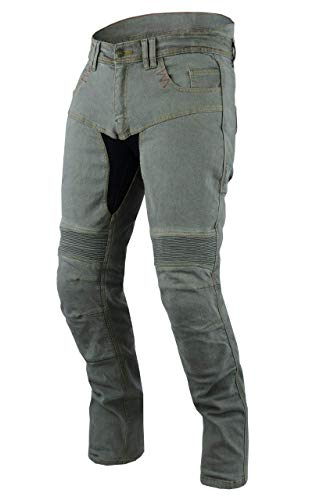 Jet pantaloni moto uomo jeans kevlar aramid con l'armatura tech pro (58 regolare/vita 42